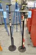 Lot-(1) Omega 3/4-Ton and (1) Lincoln Approx. 3/4-Ton Capacity Under Hoist Screw Type Jacks