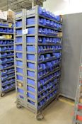 Portable Double Sided Parts Bin Shelving Unit with Nuts, Bolts, Washers, etc. Contents
