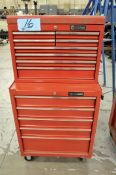 Lot-(1) Husky 5-Drawer Rolling Tool Chest and (1) 8-Drawer Flip Top Tool Box