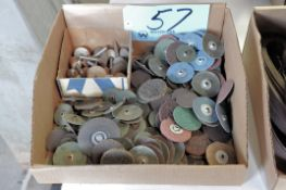 """Lot-2"""" and 1 1/2"""" Sanding Disks with Grinding Stones in (1) Box"""