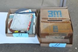 """Lot-3M 12"""" Sanding Disks and Various Sanding Sheet in (2) Boxes"""