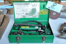 Greenlee No. 767 Portable Hydraulic Steel Knockout Punch Set with