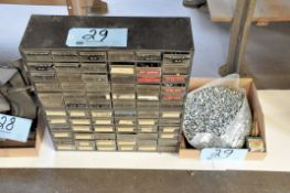 Lot-Screws, Nuts, etc. Hardware in (2) Organizer Bin Cabinets and