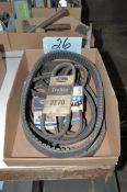Lot-Machine Drive Belts in (1) Box