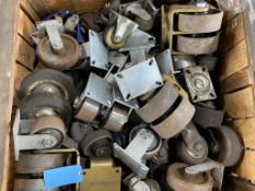 Lot of (4) Single Wheel Castors - Various Sizes & Styles (Single Wheel Only)
