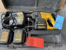 "Dewalt model DW005 7/8"" rotary hammer drill 24 volt / 110 volt (cracked housing)"
