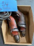 Lot of (2) Electric Hand Drills (110 Volt)