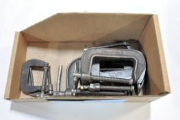 Lot-Various C-Clamps in (1) Box