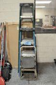 Lot-(1) Husky 6', (1) Werner 4' Fiberglass Step Ladders and (1) 2-Step Ladder
