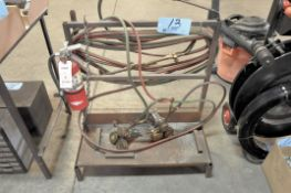 Oxygen/Acetylene Hose with Torches, Gauges, Fire Extinguisher and Stand