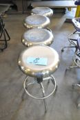 Lot-(4) Shop Stools in (1) Row