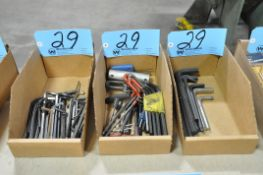 Lot-Various Allen Wrenches and T-Wrenches in (3) Boxes
