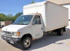 Ford, F-350 Super Duty 16' x 8' Van Body Box Truck (1999)