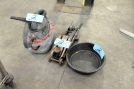 Lot-(1) Husky Shop Vac, (1) Oil Drain Pan and (1) Hydraulic Floor Jack