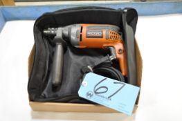 """Ridgid R7111, 1/2"""" Electric Drill with Case in (1) Box"""