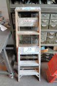 Lot-(1) 4' Wood, and (1) 2' Aluminum Step Ladders
