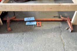 """36"""" Industrial Bar Clamp and (1) (1) Bar Clamp Under (1) Bench"""