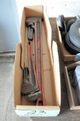 """Lot-(1) 18"""" and (1) 36"""" Pipe Wrenches in (1) Box"""