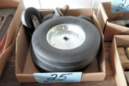 Lot-(2) Cart Wheels and (3) Caster Wheels in (1) Box