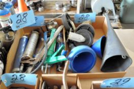 Lot-Screwdrivers, Pliers, Brushes, Grease Guns, Funnels, Tape Guns, Etc. in (12) Boxes