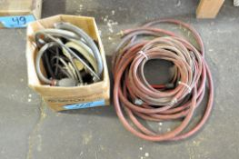 Lot-Various Hoses Under (1) Bench