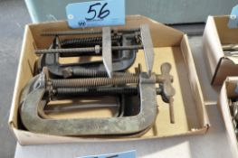 Lot-Industrial C-Clamps in (1) Box