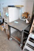 Lot-File Cabinet, Portable Steel Table and Misc.