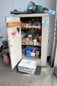 Single Door Cabinet with Nuts and Bolts Hardware Contents