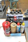 Lot-Brake Parts Cleaners and Misc. Automotive Fluids in (1) Box
