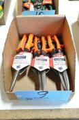 Lot-(3) Midwest Pairs of Long Cut Snips in (1) Box