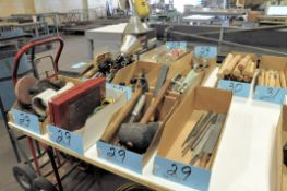 Lot-Mallets, Paint Mixer Attachments, Screwdrivers, Magnet, Cable Ties, etc. in (9) Boxes