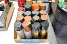 Lot-Various Spray Paints in (1) Box