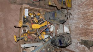 (1) LOT MISC. CORDLESS POWER TOOLS & ELECTRICAL CABLE