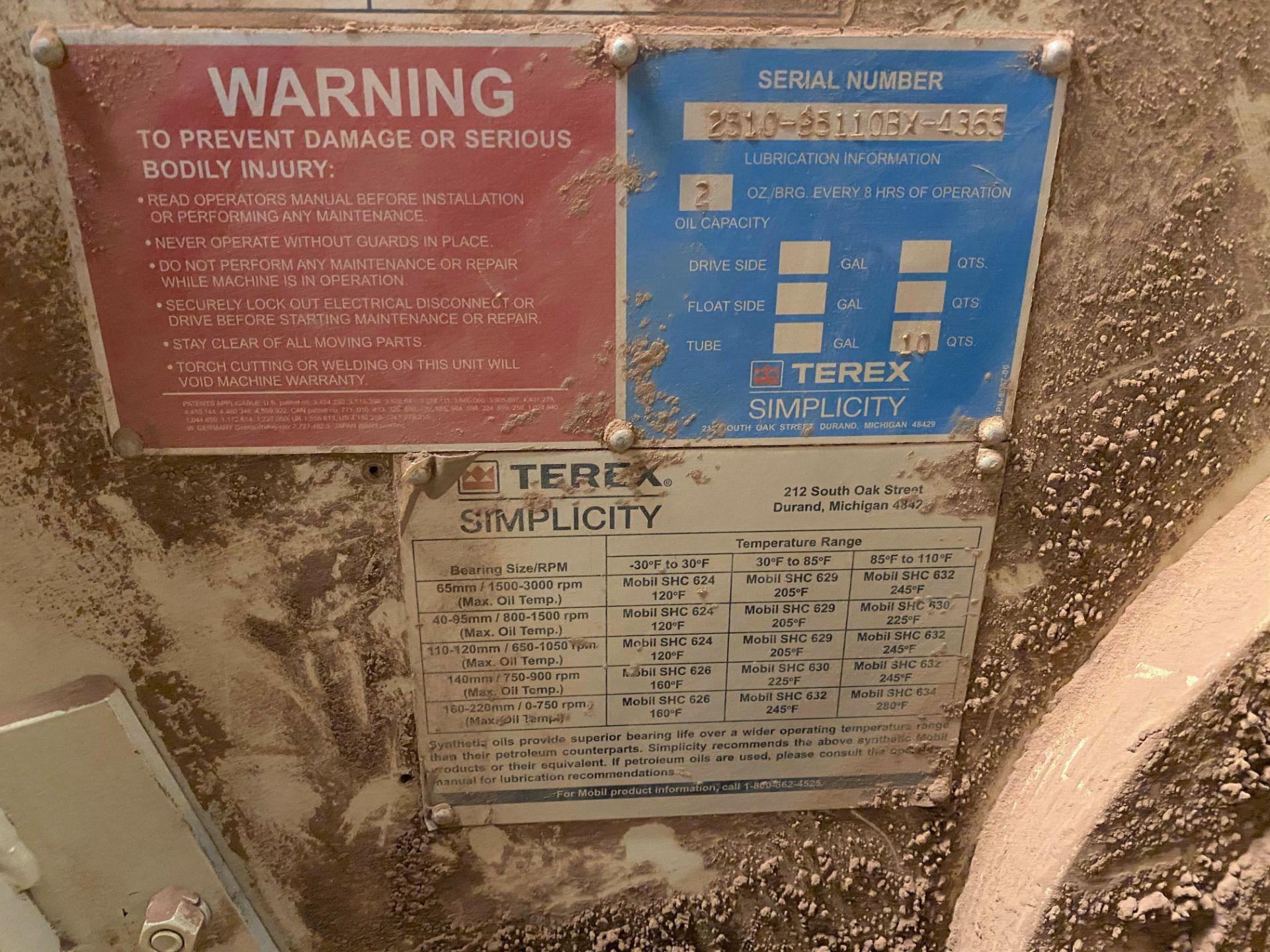 TEREX SIMPLICITY VIBRATORY, DOUBLE DECK, 6' X 12' SCREENER, W/ 20 KVA SCREEN HEATING TRANSFORMER, - Image 2 of 15