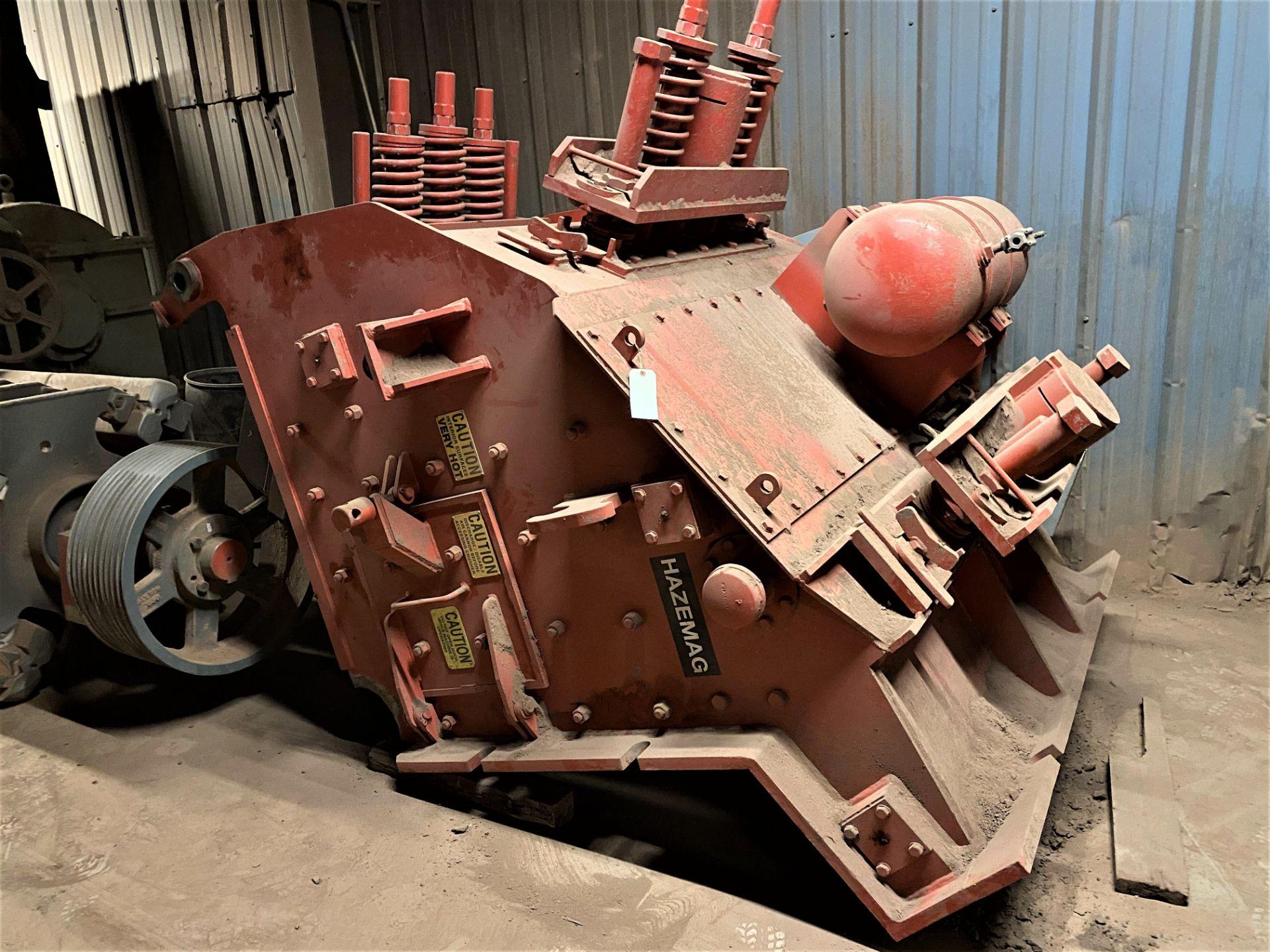 HAZEMAG IMPACT CRUSHER, MODEL 1315, 60'' DIAMETER ROTOR, 60'' WIDE, 575V, 450 HP - Image 5 of 25