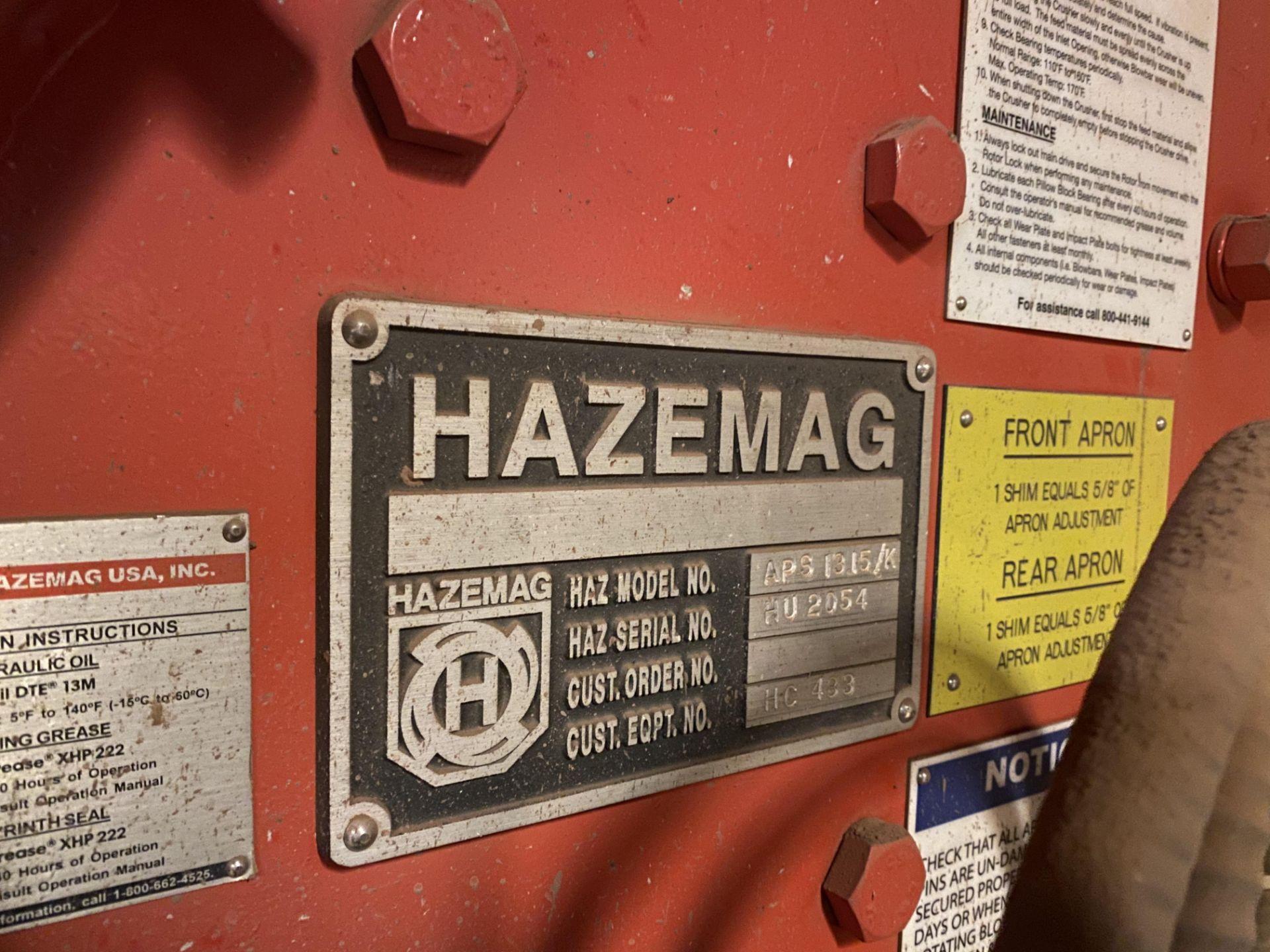 HAZEMAG IMPACT CRUSHER, MODEL 1315, 60'' DIAMETER ROTOR, 60'' WIDE, 575V, 450 HP - Image 2 of 25