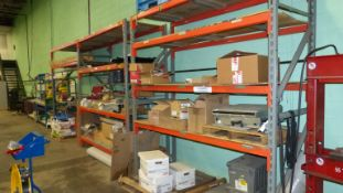 LOT (5) SECTIONS OF ADJUSTABLE WAREHOUSE RACKING