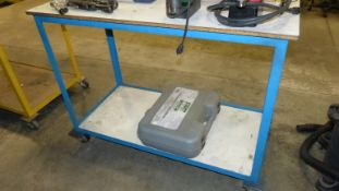 ROLLING BLUE SHOP CART (CASE NOT INCLUDED)