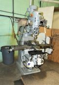 FIRST VERTICAL TURRET MILL, 10'' X 50'', T-SLOTTED TABLE, POWER FEED TO TABLE, POWER FEED TO KNEE,
