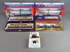 Bachmann - A collection of seven boxed HO and OO gauge model railway engines and rolling stock by