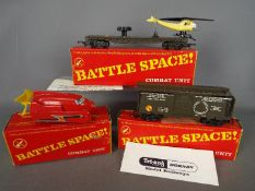 Triang Hornby - A trio of boxed Hornby OO Gauge 'Battle Space' accessories.