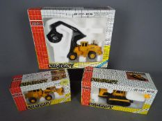 Joal - Three boxed diecast 1:50 scale construction vehicles by Joal.