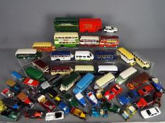 Corgi, Matchbox, Gama, Others - Over 40 unboxed diecast model vehicles in various scales.