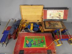 Meccano, Primus, Hornby - Four boxes of vintage and some modern Meccano parts,