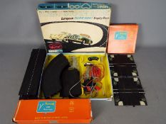 Triang Minic - A boxed Minic M1514 European Silver Eight Trophy Race Set with two boxed Minic