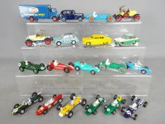 Dinky Toys, Corgi Toys - An unboxed collection of diecast models predominately racing cars.