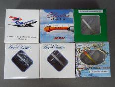 Aero Classics, Jet-X - Six boxed Lockheed L-188 Electra diecast model aircraft in 1:400 scale.