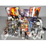 Hasbro, Kelloggs, Tazos, Other - Over 20 Star Wars Attackitx figures, key rings, collectables,