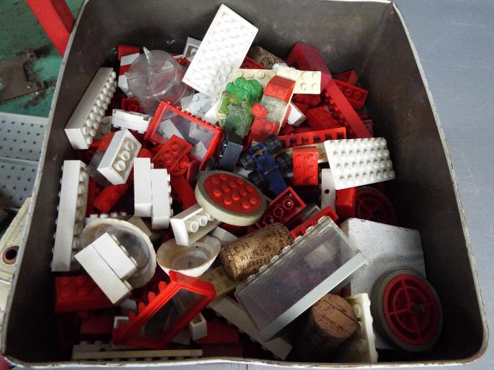 Lego, Dinky Toys, Husky, Corgi - A vintage unboxed and unmarked three storey toy car park / garage, - Image 4 of 4