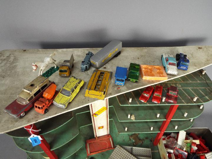 Lego, Dinky Toys, Husky, Corgi - A vintage unboxed and unmarked three storey toy car park / garage, - Image 3 of 4